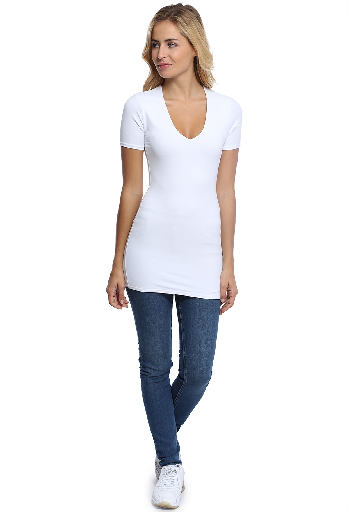 SYLVIA T-SHIRT LONG M/COURTE+