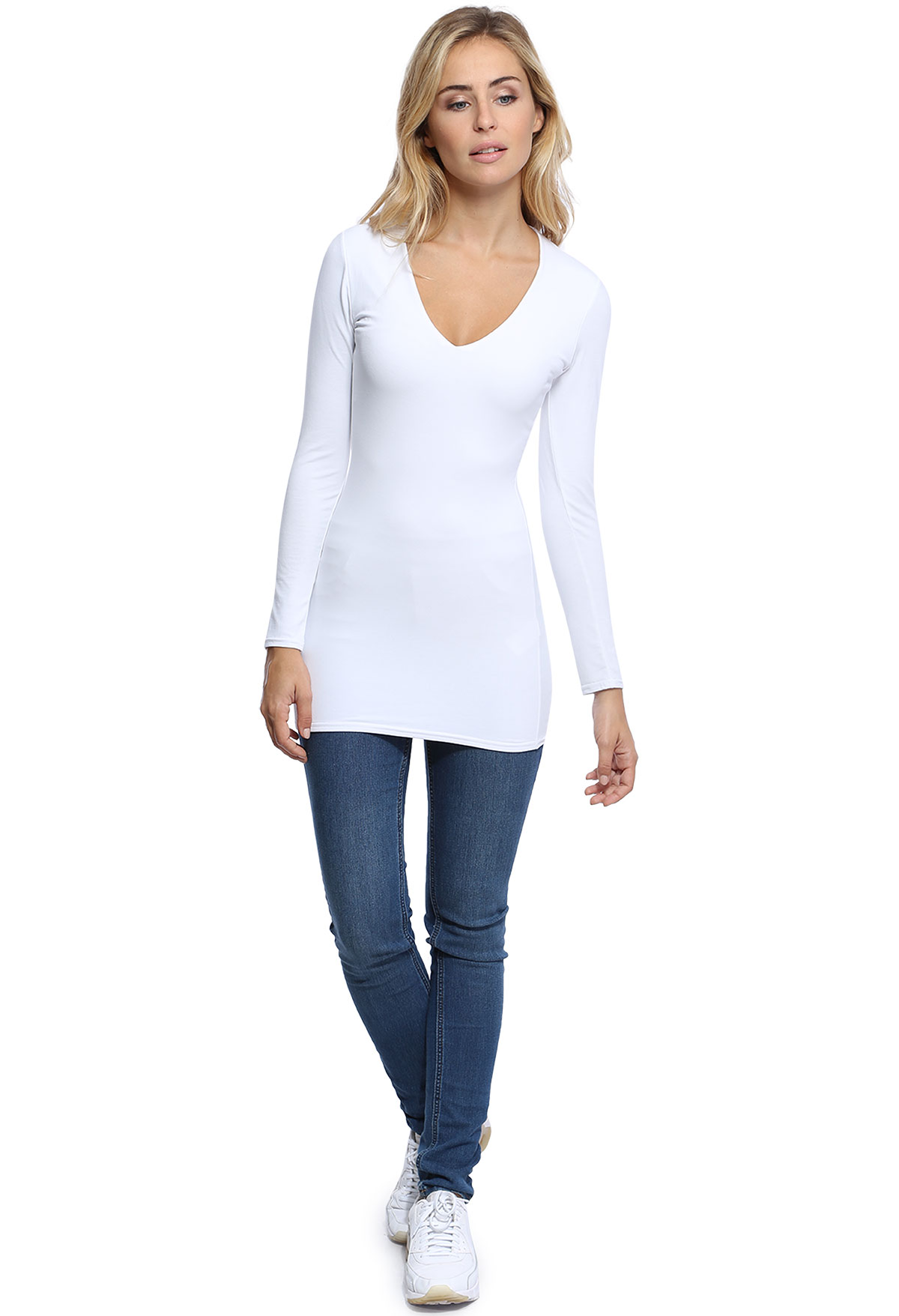 SYLVIA T-SHIRT LONG M/LONGUE