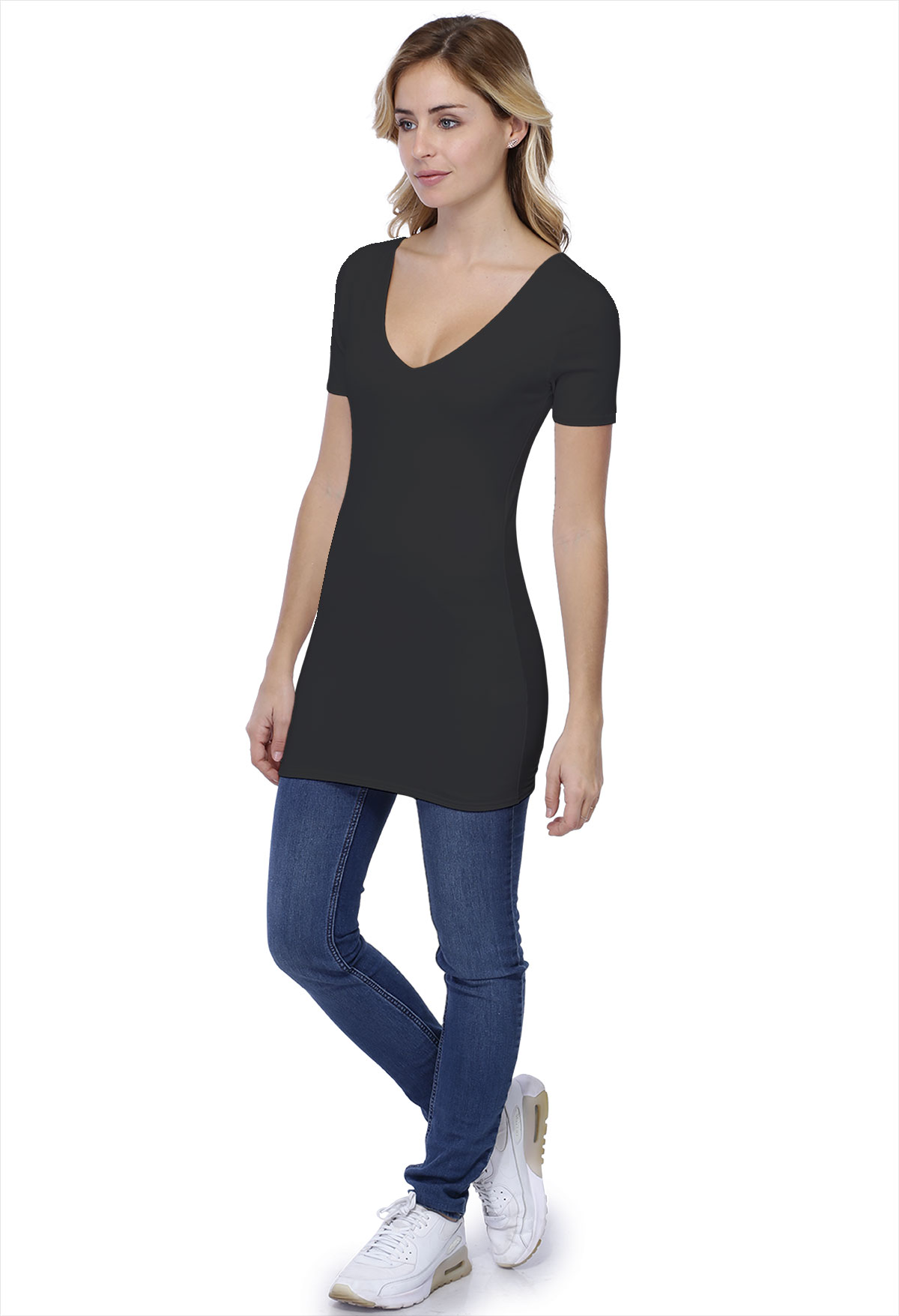 VIVI LONG T-SHIRT M/COURTES